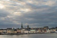 Gamla stan, Stokholm, Schweden, am Abend Lizenzfreie Stockfotos