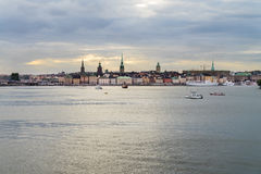 Gamla stan, Stokholm, Sweden, in the evening Royalty Free Stock Images
