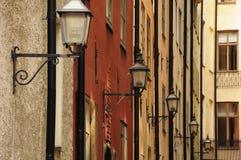 Gamla Stan street lamps. Vintage street lamps in Stockholm's old town (Gamla Stan Stock Photos