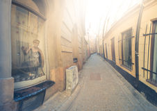 Gamla stan street in Stockholm, Sweden Royalty Free Stock Photos