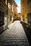 Gamla stan street in Stockholm, Sweden Royalty Free Stock Images