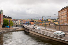 Gamla Stan traffic Royalty Free Stock Photos