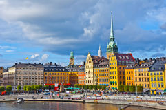 Gamla Stan View, Stockholm, Sweden. Gamla stan view taken against an overcast sky Royalty Free Stock Images