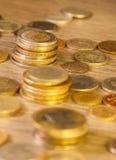 Gamla staplade mynt Royaltyfria Foton