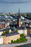 gamla Stockholm stan Images stock