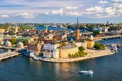 gamla Stockholm stan Suède Images libres de droits