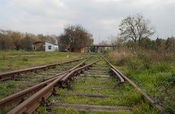 Gamla strömbrytare på järnvägsstationen Royaltyfri Bild