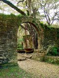 Gamla Sugar Mill Ruins Arkivfoto