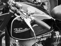Gamla svarta mopeddetaljer Royaltyfri Fotografi