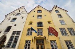 Gamla systrar för hotell tre i den i stadens centrum Tallin medeltida staden, Estland Arkivfoton