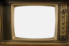 Gamla tappningtelevisioner arkivfoto