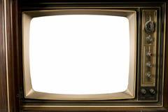 Gamla tappningtelevisioner royaltyfri fotografi