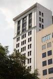 Gamla tegelsten- och stenbyggnader i Savannah Royaltyfri Bild