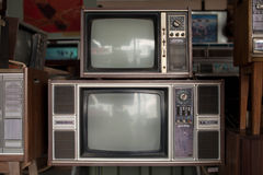 Gamla televisioner Arkivfoton