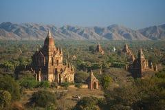 Gamla tempel i Bagan, Myanmar Royaltyfri Bild