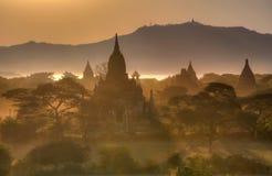 Gamla tempel i Bagan, Myanmar Arkivbilder