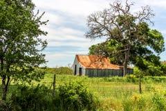 Gamla Texas Barn Royaltyfri Fotografi
