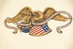 Gamla Texas Declaration Royaltyfri Bild