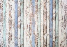 Gamla texturerade bräden, målat och bosarkany Royaltyfri Fotografi