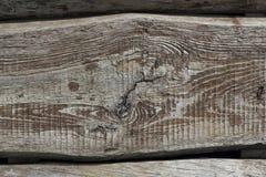 Gamla texturerade bräden som horozontally ligger bakgrund Arkivbilder