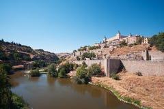 Gamla Toledo, centrala Spanien Arkivbilder
