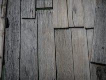 Gamla träbräden på en brygga Royaltyfri Fotografi