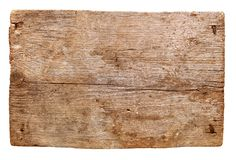 Gamla träbräden som isoleras på vit bakgrund tätt töm undertecknar upp trä Arkivbilder