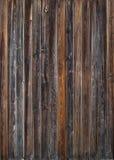 Gamla träplankor i raden, färgbakgrund Royaltyfria Foton
