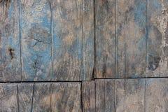 Gamla träplankor med sprucken målarfärg Royaltyfri Fotografi