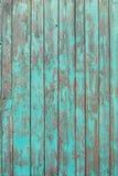 Gamla träplankor med sprucken målarfärg, textur Royaltyfria Foton