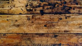 Gamla tr?golv med naturliga modeller som har br?nts royaltyfri bild