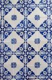 Gamla traditionella portugisiska azulejos Royaltyfri Fotografi