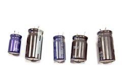 Gamla transistorer för televisiondelar Royaltyfri Bild