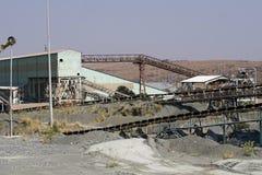 Gamla transportband på den första diamanten bryter i Cullinan, Sydafrika royaltyfri fotografi