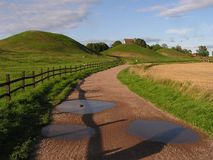 Gamla Uppsala. The old part of Uppsala (Sweden). Burial place of Swedish kings Royalty Free Stock Photos