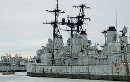 Gamla USA-marinskepp Arkivfoto