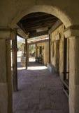 Gamla västra byggnader för stadfilmstudio Arkivbilder