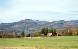Gamla Vermont ladugårdar Arkivbild