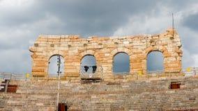 Gamla Verona, Italien, UNESCOvärldsarv arkivbild