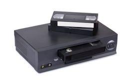 Gamla VHS videoregistreringsapparat och kassetter Royaltyfria Foton