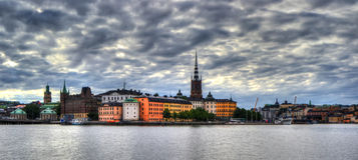 Gamlastan i Stockholm Royaltyfria Foton