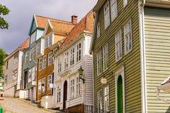 Gamle Bergen Museum noruega Fotografia de Stock Royalty Free