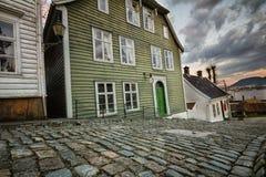 Gamle Bergen. The open air museum Gamle Bergen, Norway Royalty Free Stock Photo