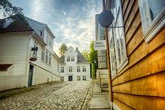 Gamle Bergen. The open air museum Gamle Bergen, Norway Royalty Free Stock Photos