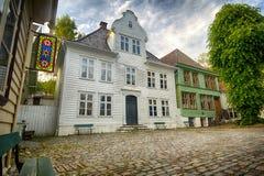 Gamle Bergen. The open air museum Gamle Bergen, Norway Stock Photo