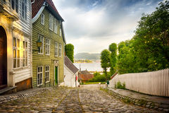 Gamle Bergen. The open air museum Gamle Bergen, Norway Stock Photography