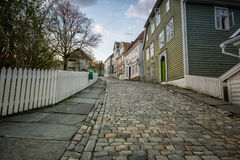 Gamle Bergen. The open air museum Gamle Bergen, Norway Royalty Free Stock Images