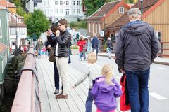 Gamle Bybro, Trondheim, Norway Stock Images