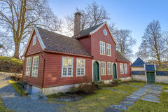 Gamle (gamla) Bergen Museum i Bergen, Norge Fotografering för Bildbyråer