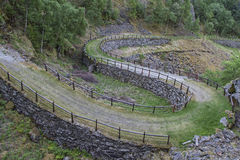 Gamle Kongeweien. An old royal road between Oslo and Bergen is now used as hiking and biking route Stock Image